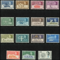 Lot 1338 [2 of 3]:1963-69 Defins SG #1-15a set, plus 1971 Decimal Ovpts (SG #24-37), both sets mint, Cat £360. (30)