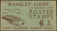 Lot 1005 [2 of 3]:Great Britain: 1938 Wembley Lions Ice Hockey Club set of twelve Poster stamps in original folder. A rare survivor and great item.
