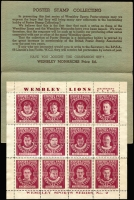 Lot 1005 [1 of 3]:Great Britain: 1938 Wembley Lions Ice Hockey Club set of twelve Poster stamps in original folder. A rare survivor and great item.