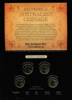 Lot 1016 [2 of 3]:Australia: Uncirculated group comprising 2017 Devlin 2c, 2001 $1 Volunteers, 2010 Burke & Wills and 2010 Australian Coinage, 2006 Royal Visit Prestige booklet, 2011 Wool two coin Proof set . All carded as issued. (6)