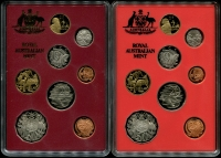 Lot 1021:Australia: 1989 & 1990 Proof sets as issued.
