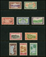 Lot 1399 [5 of 5]:1919-46 Small collection on Hagners incl 1919 Rarotonga Ovpts on KGV to 1/-, 1920 set, 1924-27 set, 1926-28 Admirals set, 1932 set, 1936 2/- and 3/- Admirals, 1944-46 set, etc. (59)
