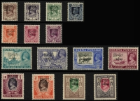 Lot 933 [2 of 11]:British Commonwealth KGVI A to D mint collection in album incl Aden, Ascension, Bahamas 1938, 1942 & 1948 sets, Bermuda 1938-53 set incl £1, British Honduras 1938-47 set, excellent range of British POs Ovpts, Burma good range of sets and Officials, Cyprus 1938 set, etc. Condition is mixed, excellent value at estimate. (100s)