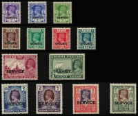 Lot 933 [3 of 11]:British Commonwealth KGVI A to D mint collection in album incl Aden, Ascension, Bahamas 1938, 1942 & 1948 sets, Bermuda 1938-53 set incl £1, British Honduras 1938-47 set, excellent range of British POs Ovpts, Burma good range of sets and Officials, Cyprus 1938 set, etc. Condition is mixed, excellent value at estimate. (100s)