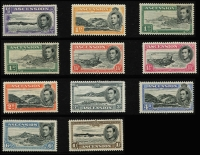 Lot 933 [4 of 11]:British Commonwealth KGVI A to D mint collection in album incl Aden, Ascension, Bahamas 1938, 1942 & 1948 sets, Bermuda 1938-53 set incl £1, British Honduras 1938-47 set, excellent range of British POs Ovpts, Burma good range of sets and Officials, Cyprus 1938 set, etc. Condition is mixed, excellent value at estimate. (100s)