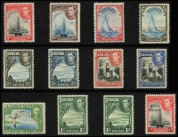 Lot 933 [5 of 11]:British Commonwealth KGVI A to D mint collection in album incl Aden, Ascension, Bahamas 1938, 1942 & 1948 sets, Bermuda 1938-53 set incl £1, British Honduras 1938-47 set, excellent range of British POs Ovpts, Burma good range of sets and Officials, Cyprus 1938 set, etc. Condition is mixed, excellent value at estimate. (100s)