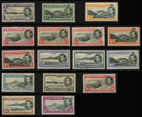 Lot 933 [1 of 11]:British Commonwealth KGVI A to D mint collection in album incl Aden, Ascension, Bahamas 1938, 1942 & 1948 sets, Bermuda 1938-53 set incl £1, British Honduras 1938-47 set, excellent range of British POs Ovpts, Burma good range of sets and Officials, Cyprus 1938 set, etc. Condition is mixed, excellent value at estimate. (100s)