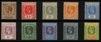 Lot 932 [3 of 8]:British Commonwealth KGV collection in album incl Fiji 1912-23 values to 5/-, 1922-27 set, Gibraltar 1925 2/-, 5/- & 10/-, Gold Coast 1913-21 set to 5/-, 1916-20 Togo Ovpt set to 10/-, 1928 set, Grenada 1921-31 2/6d to 10/-, 1934-36 set, Jamaica 1921-29 set, KUT 1935-37 to 10/-, Malaya useful range, Mauritius 1913-22 set, Montserrat 1922-29 set, 1932 Anniversary to 2/6d, Nigeria 1936 set, Northern Rhodesia 1925-29 set to 5/-, etc. A valuable lot. (100s)
