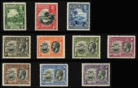 Lot 932 [5 of 8]:British Commonwealth KGV collection in album incl Fiji 1912-23 values to 5/-, 1922-27 set, Gibraltar 1925 2/-, 5/- & 10/-, Gold Coast 1913-21 set to 5/-, 1916-20 Togo Ovpt set to 10/-, 1928 set, Grenada 1921-31 2/6d to 10/-, 1934-36 set, Jamaica 1921-29 set, KUT 1935-37 to 10/-, Malaya useful range, Mauritius 1913-22 set, Montserrat 1922-29 set, 1932 Anniversary to 2/6d, Nigeria 1936 set, Northern Rhodesia 1925-29 set to 5/-, etc. A valuable lot. (100s)