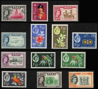 Lot 934 [2 of 10]:British Commonwealth QEII collection in album of mainly early period definitive sets incl British Honduras, good range of British POs Abroad, British Solomons, Cayman Islands, Cook Islands, Cyprus, Falkland Islands, Fiji, Gambia, Gibraltar, Gold Coast, Jamaica & KUT, etc. Mostly mint, handy lot. (100s)