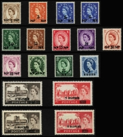 Lot 934 [3 of 10]:British Commonwealth QEII collection in album of mainly early period definitive sets incl British Honduras, good range of British POs Abroad, British Solomons, Cayman Islands, Cook Islands, Cyprus, Falkland Islands, Fiji, Gambia, Gibraltar, Gold Coast, Jamaica & KUT, etc. Mostly mint, handy lot. (100s)