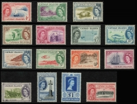 Lot 934 [6 of 10]:British Commonwealth QEII collection in album of mainly early period definitive sets incl British Honduras, good range of British POs Abroad, British Solomons, Cayman Islands, Cook Islands, Cyprus, Falkland Islands, Fiji, Gambia, Gibraltar, Gold Coast, Jamaica & KUT, etc. Mostly mint, handy lot. (100s)