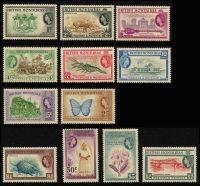 Lot 934 [1 of 10]:British Commonwealth QEII collection in album of mainly early period definitive sets incl British Honduras, good range of British POs Abroad, British Solomons, Cayman Islands, Cook Islands, Cyprus, Falkland Islands, Fiji, Gambia, Gibraltar, Gold Coast, Jamaica & KUT, etc. Mostly mint, handy lot. (100s)
