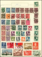Lot 923 [3 of 21]:World collection in 4 albums with useful Austria, Belgium, China incl some mint Mao period, Czech, France, Germany, Russia, Thailand, etc. Many useful, viewing will reward. (1,000s)