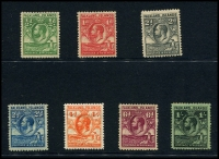 Lot 1405 [2 of 3]:KGV selection incl 1912-20 values to 3/-, 1929-37 values to 1/- and 1933 Centenary to 1/-. Useful lot. (29)