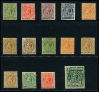 Lot 1405 [3 of 3]:KGV selection incl 1912-20 values to 3/-, 1929-37 values to 1/- and 1933 Centenary to 1/-. Useful lot. (29)