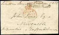 Lot 1658 [3 of 4]:1800s Free Franks Collection mostly fronts, and condition varies. Handy lot. (39)