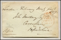 Lot 1658 [4 of 4]:1800s Free Franks Collection mostly fronts, and condition varies. Handy lot. (39)