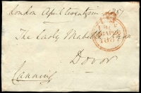 Lot 1658 [1 of 4]:1800s Free Franks Collection mostly fronts, and condition varies. Handy lot. (39)