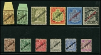 Lot 1762 [2 of 7]:1914-30 KGV collection on Hagners incl 1914-21 2/- & 5/-, 1923 Self Government 2/6d & 5/-, plus Wmk Mult Script set, 1926 Postage Opt set, 1928 Opt set (ex 5/-), 1930 set, etc. Attractive lot. (94)