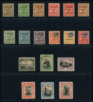 Lot 1762 [3 of 7]:1914-30 KGV collection on Hagners incl 1914-21 2/- & 5/-, 1923 Self Government 2/6d & 5/-, plus Wmk Mult Script set, 1926 Postage Opt set, 1928 Opt set (ex 5/-), 1930 set, etc. Attractive lot. (94)