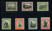 Lot 1762 [5 of 7]:1914-30 KGV collection on Hagners incl 1914-21 2/- & 5/-, 1923 Self Government 2/6d & 5/-, plus Wmk Mult Script set, 1926 Postage Opt set, 1928 Opt set (ex 5/-), 1930 set, etc. Attractive lot. (94)