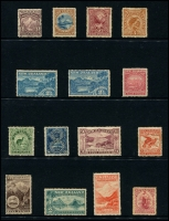 Lot 1777 [2 of 4]:1898-1907 Pictorials collection on Hagners incl 1898 set to 5/-, 1899-1903 values to 5/-, oddments of later issues to 2/-. Condition varies, nice lot. (53)