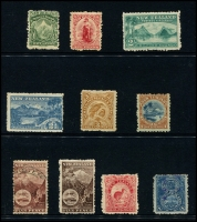 Lot 1777 [3 of 4]:1898-1907 Pictorials collection on Hagners incl 1898 set to 5/-, 1899-1903 values to 5/-, oddments of later issues to 2/-. Condition varies, nice lot. (53)
