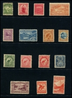 Lot 1777 [1 of 4]:1898-1907 Pictorials collection on Hagners incl 1898 set to 5/-, 1899-1903 values to 5/-, oddments of later issues to 2/-. Condition varies, nice lot. (53)