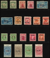 Lot 1812 [1 of 4]:1902-50s Collection on Hagners incl range 1902 Ovpts, 1903 Ovpts set, 1911 set, 1917-21 set, 1918-29 Postal Fiscals 2/- to 10/-, 1920 Defins, 1932 Defins, 1938 & 1950 sets, etc. Useful lot. (70+)