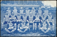 Lot 1116:Australia - Victoria: Geelong Football Team 1908, blue & white photo by WH Watts. Unused. Great card.