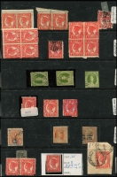 Lot 686 [4 of 4]:1860s-1900s range of perf Chalons, range of Zig Zag roulettes in black and plain, etc. Also noted 1909 4d grey-black with double perfs at right etc. (80+)
