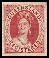 Lot 681:1902 Imperf Intermediate proof of Registered (6d) in rose.