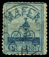 Lot 1838:1900 1d pale blue/blue Cadet Sergt Major Goodyear, SG #17, small faults, Cat £325.