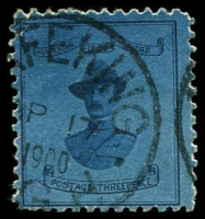 Lot 1839:1900 3d deep blue/blue General Baden-Powell, SG #20, Cat £425.
