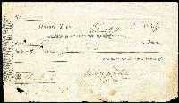 Lot 1072:Cashier Cheque: 1839 Derwent Bank cheque for £10, odd fault, rare.