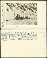Lot 47:Antarctica: New Zealand Canterbury Times PPC of 'Sledging Party at Razorback Island'.