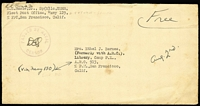 Lot 1699 [3 of 5]:1940s Pacific Region selection of covers with APO 25 (New Zealand); APO 915 (Christmas Island, G+E Is); Navy CG Unit 84 (Makin Is, G+E Is); APO 914 (Canton Is, G+E Is); APO 721 (Aitutaki); Navy 129 (Tutuila, Samoa) to Fiji; Navy VB-3 to Fiji, APO 920 (Biak, NEI) x2; APO 719 (Noemfoor Is, NEI). (12)