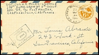 Lot 1699 [1 of 5]:1940s Pacific Region selection of covers with APO 25 (New Zealand); APO 915 (Christmas Island, G+E Is); Navy CG Unit 84 (Makin Is, G+E Is); APO 914 (Canton Is, G+E Is); APO 721 (Aitutaki); Navy 129 (Tutuila, Samoa) to Fiji; Navy VB-3 to Fiji, APO 920 (Biak, NEI) x2; APO 719 (Noemfoor Is, NEI). (12)