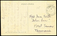 Lot 793 [2 of 3]:Egypt 1916-19 [1] 1916 OAS PPC from Tel-el-Kebr to Hawthorn, Vic, poor red Military recreation Free E handstamp on face; [2] 1918 Egyptian 3m Postal Card from Cairo to Maj Simpson at the Australian Hospital Port Said; [3] 1919 use of stampless PPC of Egyptian Woman to Tasmania, cancelled with double-circle 'FIELD POST OFFICE/X/19FE/91/T.M.1' (date error). Plus [4] three Honour Envelope sall from Egypt? to South Australia (one with 'COIN OR ARTICLES OF VALUE...' admonition). (6)