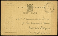 Lot 905 [3 of 4]:France 1916-17 [1] 1917 use of NZ Salvation Army OAS cover to Melbourne, cancelled with 'ARMY POS[T OFFICE]/A/2AP/17/S.W.4' (B2 - France), magenta oval 'PASSED FIELD CENSOR/[crown]/1934' (A1) on face; [2] Field Service Post Card to Adelaide; [3] Field Service Post Card cancelled with double-circle 'FIELD POST OFFICE/B/14JU/17/d.60' (B1 - Western Front) to Murray Bridge SA; [4] poor '4th AUST.INF./BGDE/25-II-16/FIELD/P.O.' on OAS cover to Orkney, Scotland, magenta 'PASSED BY [CENSOR]