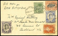 Lot 1593 [1 of 2]:1939 Aotearoa Tonga - NZ 2nd South Pacific survey flight, NZAC #210i.