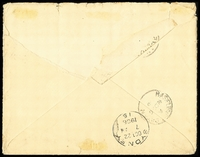 Lot 1422 [2 of 2]:1906 (Sep 26) use of 2d BNG x2 on cover to Mrs MJW Mongan/Haselbury Bryan Rectory, stamps cancelled with fine 'BNG' (A1+) tied with 'SAMARAI/26SP06/BRITISH