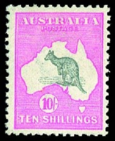 Lot 1270:10/- Grey & Pink BW #47, Cat $1000, MLH.