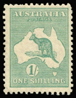 Lot 97:1/- Emerald BW #34, (retail $175), short top right perf.