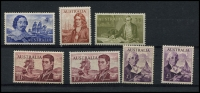 Lot 607 [2 of 2]:1963-66 Navigators set of 8 (both papers), BW #404-9, Cat $323, 4/- has couple of light gum bends. (8)