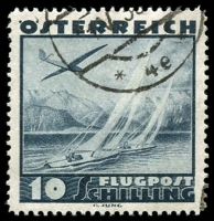 Lot 1473:1935 Air 10s slate-blue, SG #777, Cat £170.