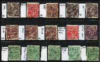 Lot 212 [2 of 3]:1½d Die I Varieties selection of plated flaws, browns, greens & reds, most are perf 'OS'. Catalogued flaws 86(5)e, 88(14)d, 89(17)j,rb, 89(22)i, other plated flaws are 1L55, 3R42, 4R57, 5L45, 7R31, 8R46, 13L43,55, 14L51 15R9 x2,29 x2,48,52,54, 16L57, 17R26,33,46, 18L45,57, 18R54. (30)