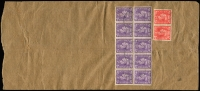 Lot 1015 [2 of 2]:1949 (Aug 26) cover from Kobe to Sydney, with unusual franking of Aust 1d Princess x5 & 3d brown KGVI x3 PLUS GB 1d pale red x2 & 3d pale violet x10. Cancelled with poor strikes of Aust Unit Postal Stn 452 (Osaka). Opened a little roughly at left. Rare. Civilian mail could be sent through this PO from about July 1949.