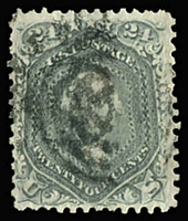 Lot 1703:1861-66 National Bank Co 24c grey, Sc #78b, Cat $300.